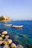 Town Loutraki in Greece. Travel background Royalty Free Stock Photo