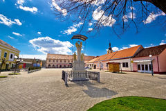 Town of Ludbreg central square Stock Image
