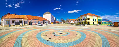 Town of Ludbreg square panoramic view Royalty Free Stock Photos