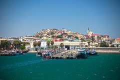 The town of Luderitz, Namibia royalty free stock image