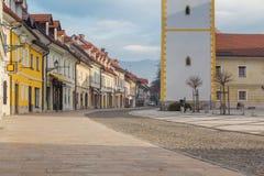 Town main street. Royalty Free Stock Image