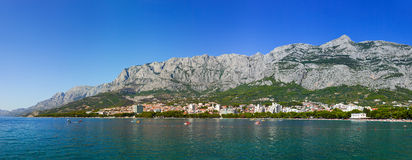 Town Makarska in Croatia Royalty Free Stock Photos
