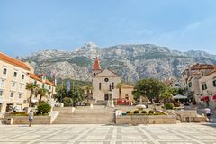 Center of the town of Makarska, Croatia Royalty Free Stock Photo