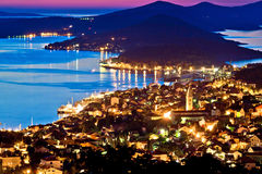 Town of Mali Losinj bay at sunset Stock Photography