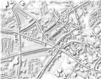 Town map Royalty Free Stock Image