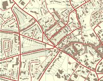 Town map Stock Photography