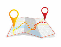 Town map Stock Image