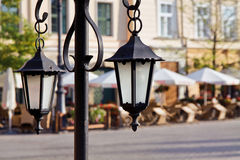 Town market cafe in Cracow Royalty Free Stock Photo