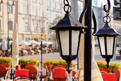 Town market cafe in Cracow Royalty Free Stock Photos