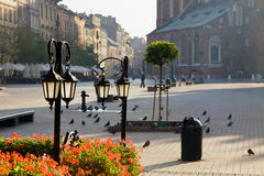 Town market cafe in Cracow Royalty Free Stock Image