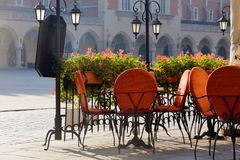 Town market cafe in Cracow Stock Image