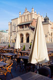 Town market cafe in Cracow Royalty Free Stock Photography