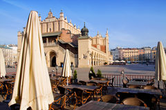 Town market cafe in Cracow Stock Photo