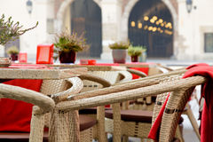 Town market cafe in Cracow Stock Photos