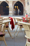 Town market cafe in Cracow Royalty Free Stock Images