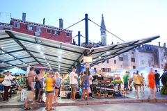 Town market in Rovinj Royalty Free Stock Photos
