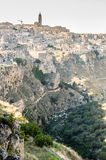 Town of Matera with beautiful rocks Royalty Free Stock Photos