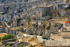 Town of Matera Italy Royalty Free Stock Photography