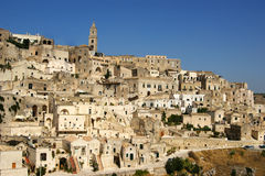 Town of Matera Italy Royalty Free Stock Photos