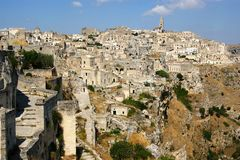 Town of Matera Italy Royalty Free Stock Image