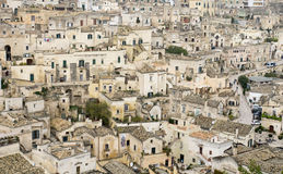 The town of Matera in southern Italy Stock Photography