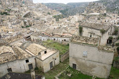 The town of Matera in southern Italy. Matera in southern Italy, old city, historical Buildings Stock Images