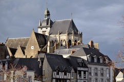Town of Mayenne in France Royalty Free Stock Image