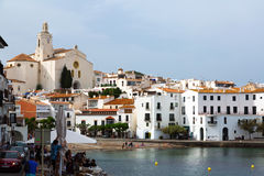 Town at Mediterranean coast in Catalunia. Cadaques Stock Images