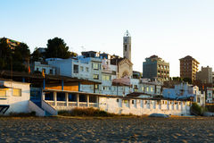Town at mediterranean coast. Montgat Stock Image