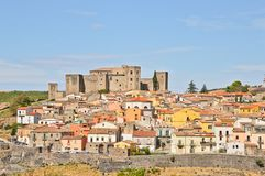 The town of Melfi in southern Italy- royalty free stock photos