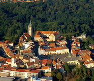 Melnik city - fly photo Stock Images
