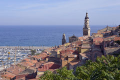 Town of Menton in France Royalty Free Stock Photo