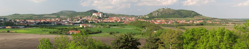 Town Mikulov Stock Images