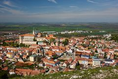The town of Mikulov Stock Photo