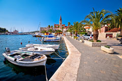 Town of Milna on Brac island waterfront Stock Image