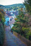 Town Monschau in North Rhine - Westphalia. Eastern Royalty Free Stock Photo