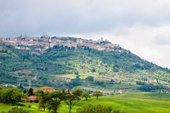 Town of Montalcino in Tuscany Stock Images