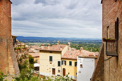 The town of Montepulciano in Tuscany. Italy Royalty Free Stock Photography