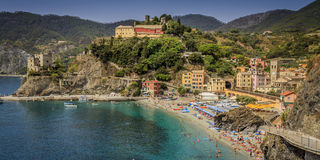Town of Monterosso al Mare (the Old Town). In Cinque Terre area of Italy Stock Image