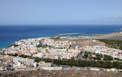 Town Morro Jable, Fuerteventura stock photography