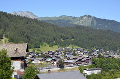 Town of Morzine in France Royalty Free Stock Images