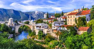 Free Town Mostar In Bosnia And Herzegovina Stock Photography - 163982582