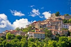 Town of Motovun on picturesque hill view Stock Photography