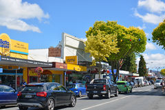 Town of Motueka in Tasman Bay, New Zealand stock photo