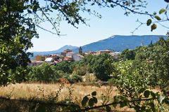 Town in the mountains. Cercedilla city in central Spain Royalty Free Stock Image