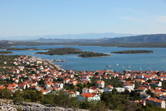 Town Murter in Croatia Royalty Free Stock Photos