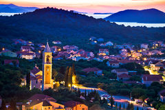 Town of Murter evening view Royalty Free Stock Images