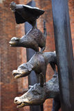 The Town Musicians of Bremen Sculpture in Riga Stock Photography
