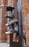 The Town Musicians of Bremen Sculpture in Riga Stock Photos