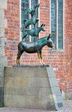 Town Musicians of Bremen, a statue in Bremen, Germany Stock Image